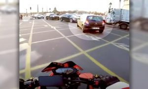 Biker Chases Hard to Nab a Woman Driver Escaping After Running Over an Old Man