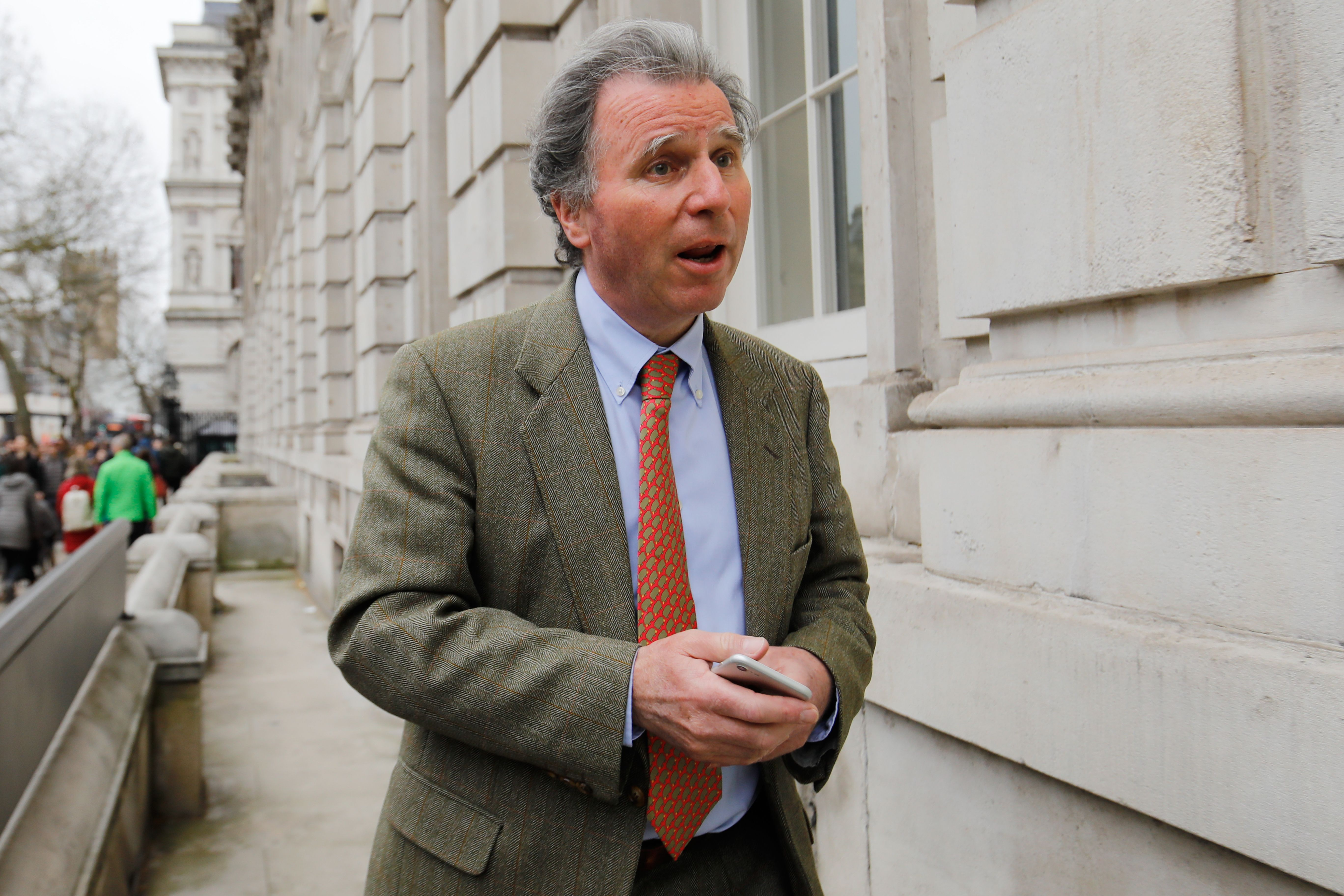 Conservative MP Oliver Letwin arrives at the Cabinet Office