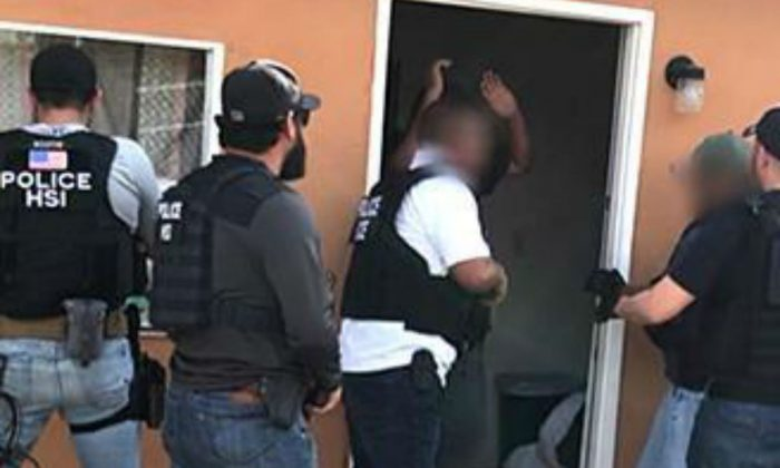 ICE arrested a Mexican man on alien smuggling charges after executing a search warrant at a home in Texas and finding over 50 illegal aliens. (ICE)