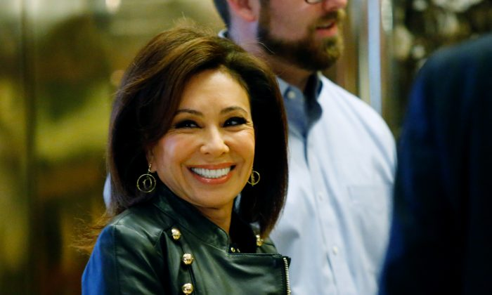 Jeanine Pirro, arrives at the Trump Tower for meetings with US President-elect Donald Trump, in New York on Nov. 17, 2016.  (Eduardo Munoz Alvarez/AFP/Getty Images)