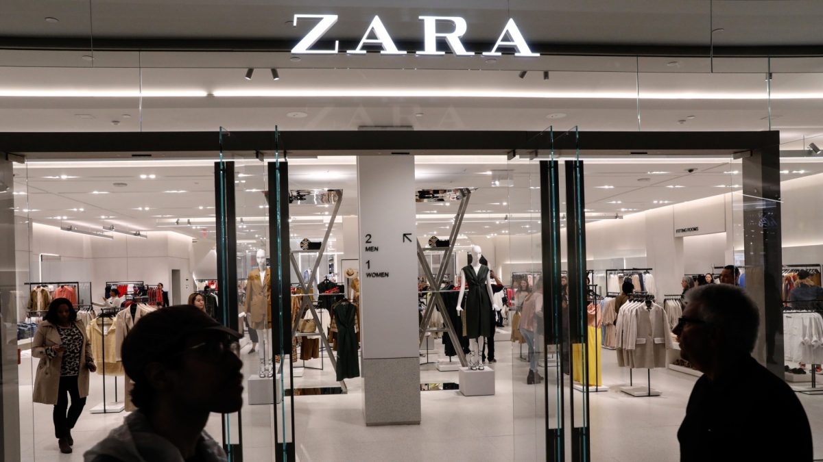 People shop at Zara