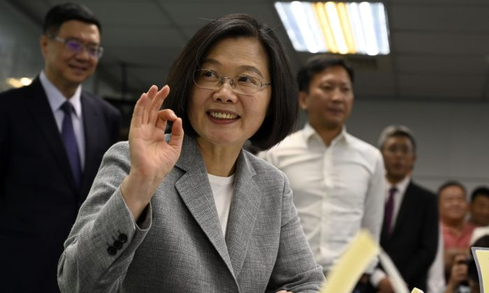 Taiwan's President Tsai Ing-wen on March 21, 2019. (Sam Yeh/AFP/Getty Images)