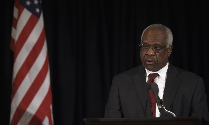 Supreme Court Associate Justice Clarence Thomas in Washington on March 1, 2016. (Susan Walsh-Pool/Getty Images)