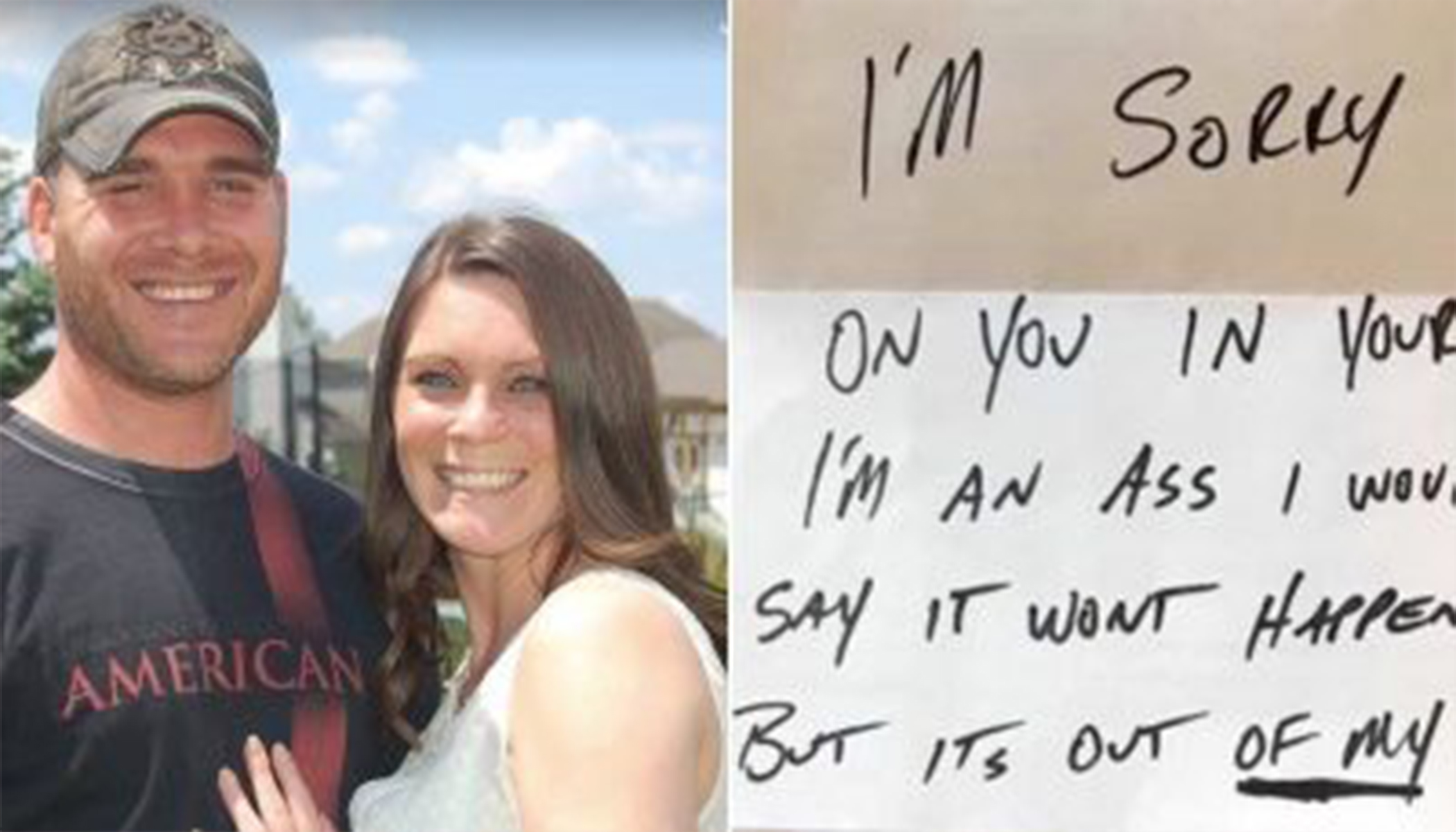 Husband Pens Funny Apology Note After Learning Wife's Sad About Him 'Cheating'