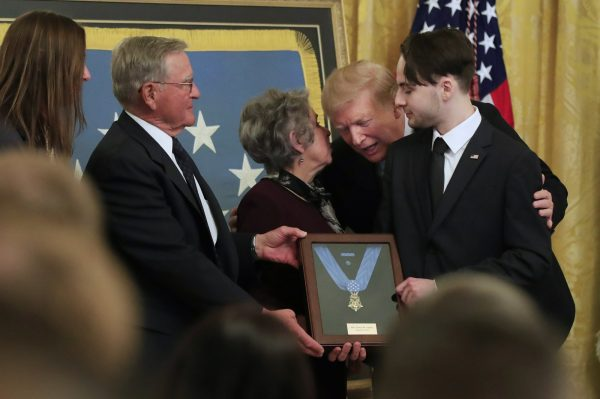 President Donald Trump awards the Medal of Honor to Army Staff Sgt.