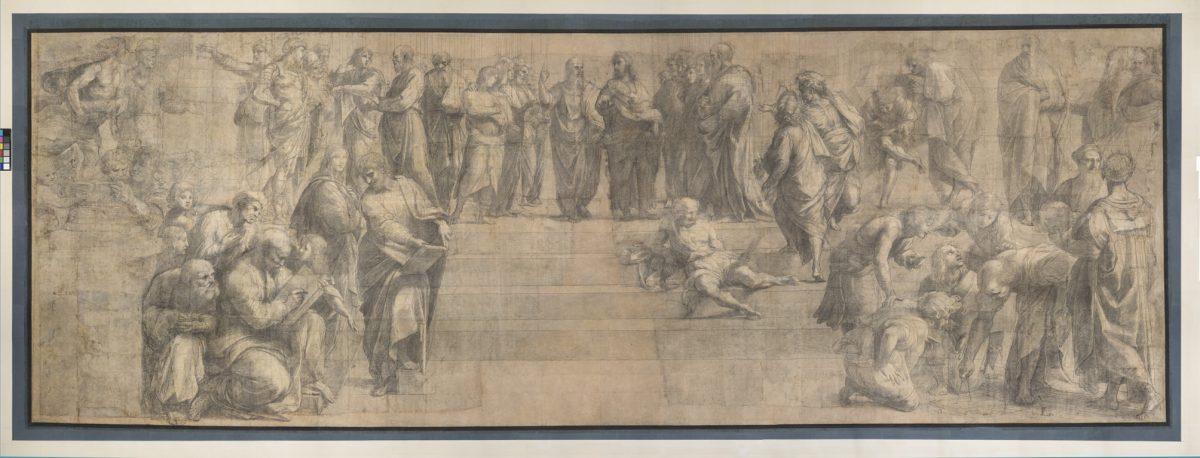 Raphael fresco cartoon