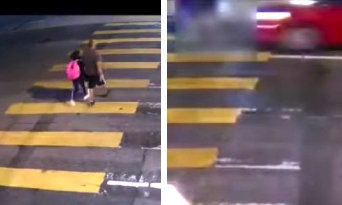 Police have released video of a hit-and-run at Glassell Park, Los Angeles, on Nov. 16, 2018. (LAPD)
