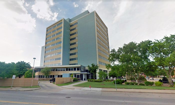 Exterior of the 18th Judicial District Court building in Wichita, Kan., in May, 2018. (Google Maps Street View/Screenshot)