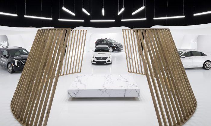 Cadillac Live showroom panoramic view. (Cadillac Canada)