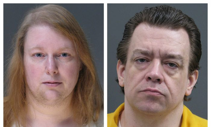 This combination of undated photos provided by the Bucks County District Attorney's Office on March 29, 2019, shows Sara Packer, left, and Jacob Sullivan. (Bucks County District Attorney's Office via AP)