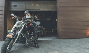 Biker Grandpa Would Do Anything for Granddaughter–Even If It Means Dancing With Pompoms