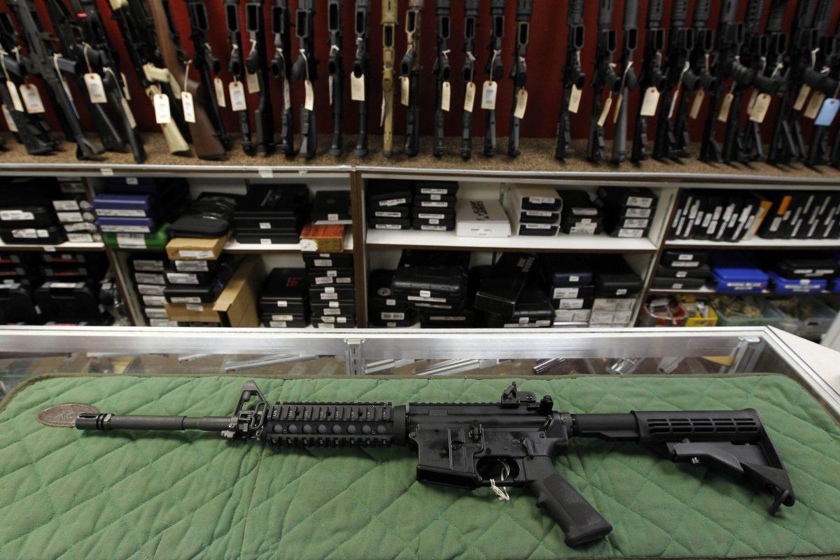 An AR-15 style rifle