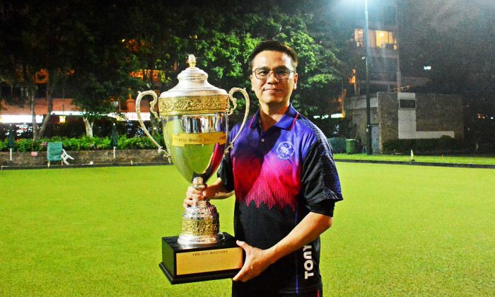 Tony Cheung of Hong Kong Football Club won his third singles title this year, lifting the inaugural CCC Masters on Sunday March 24, 2019. (Stephanie Worth)