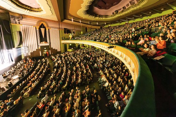 The audience watches Shen Yun at the Eventim Apollo