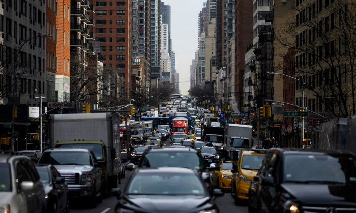 A stock photo of traffic (JOHANNES EISELE/AFP/Getty Images)