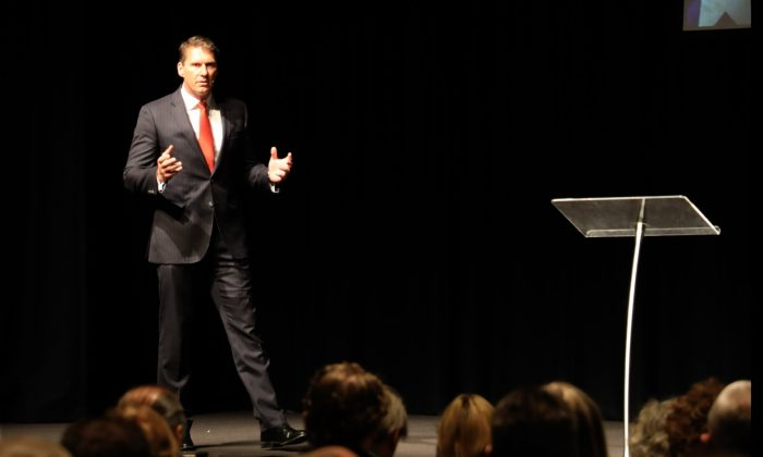 Cory Bernardi, leader of the Australian Conservative Party, speaks at the 2019 Victorian State Conference in Melbourne, Australia on March 30. (Grace Yu/Epoch Times)