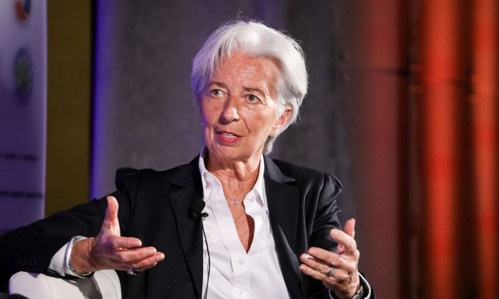 IMF Managing Director Christine Lagarde speaks at the 13th Annual Capital Markets Summit at the U.S. Chamber of Commerce in Washington on April 2, 2019. (Samira Bouaou/The Epoch Times)