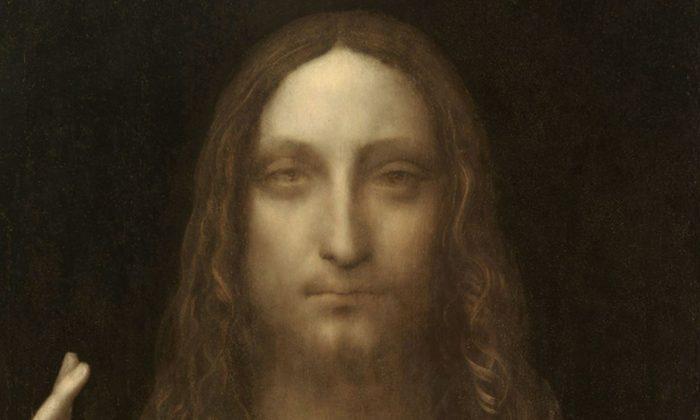 """Leonardo's """"Salvator Mundi,"""" painted in 1500 (Public Domain)"""
