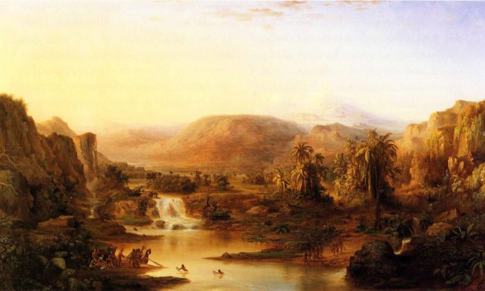 """""""Land of the Lotos Eaters,"""" 1861, by Robert Seldon Duncanson. (Public Domain)"""