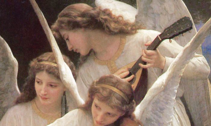 """A detail from """"Song of the Angels,"""" 1881, by William Adolphe Bouguereau. (Public Domain)"""