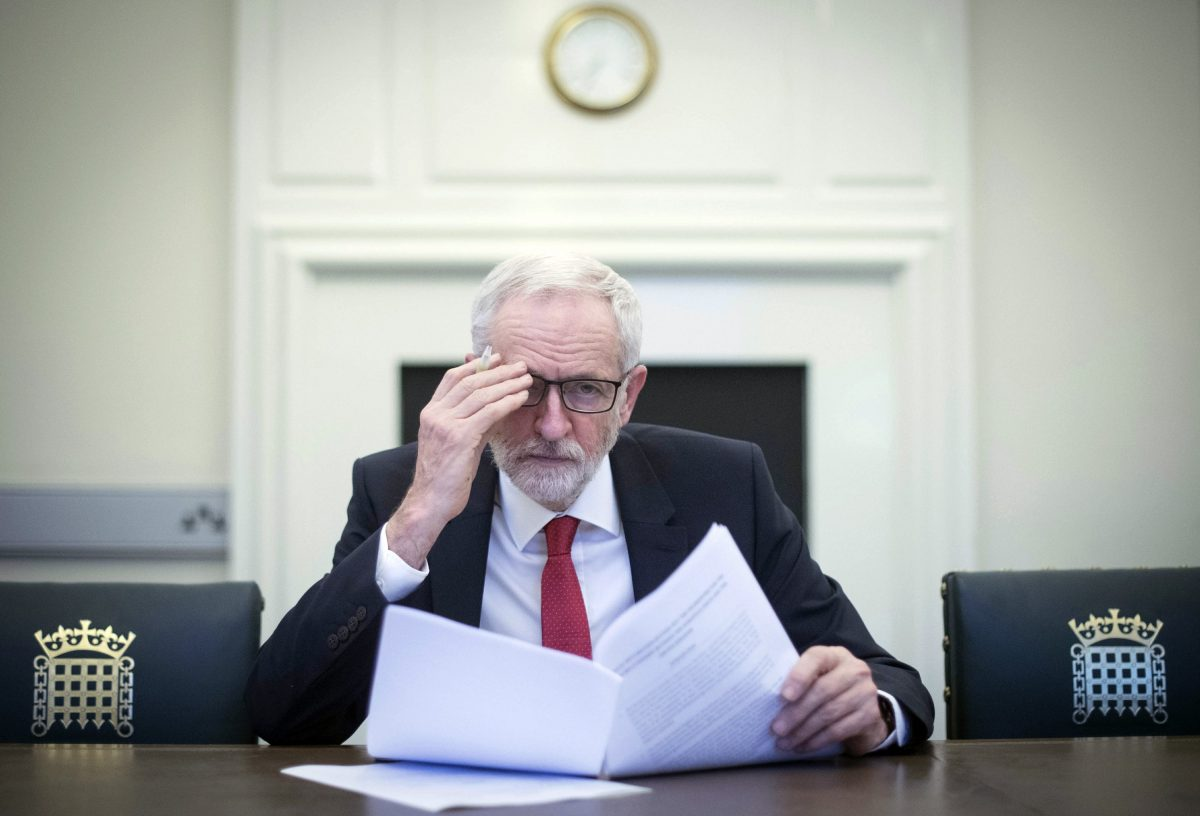 Britain's Labour leader Jeremy Corbyn