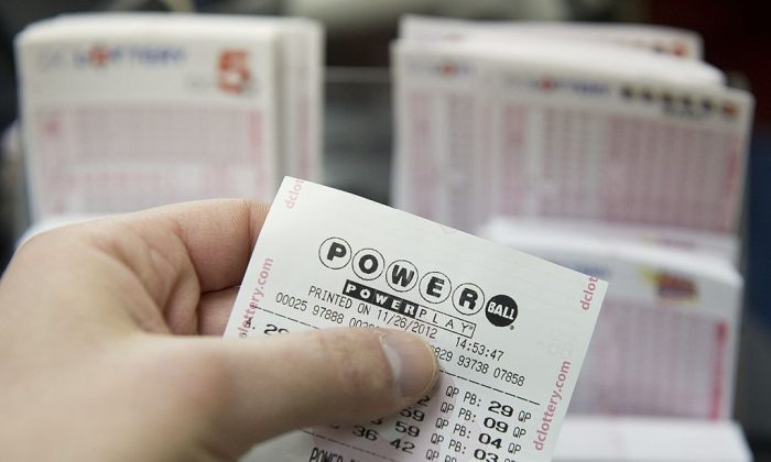 A Powerball lottery ticket in a stock photo.    (Saul Loeb/AFP/Getty Images)