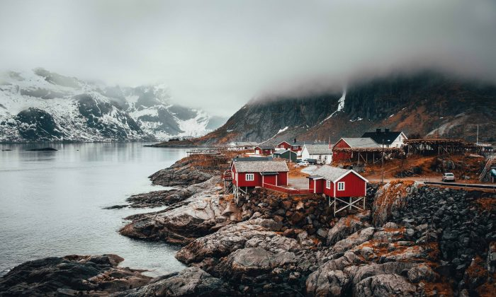 Scandinavia is supposed to be home to some of the happiest people in the world, but new research suggests that may not be true, even with beautiful places like the fishing village of Hamnoy in Norway.  (Kym Ellis/Unsplash)