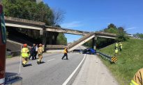 Concrete Bridge Railing Collapse Likely Caused by Vehicle Impact, DOT Says
