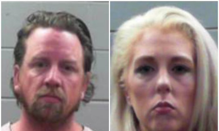 Beau Alan Rogel was arrested for allegedly speeding on a highway in Mississippi on March 31, 2019. His wife was also arrested for trying to help him avoid arrest, police said. (Rankin County Sheriff's Office)