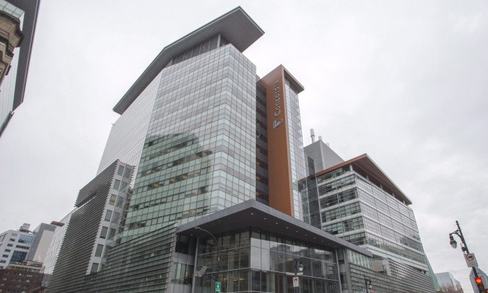 Concordia University's downtown campus in Montreal. The Montreal Institute for Genocide and Human Rights Studies at Concordia held a talk by Uyghur leader Dolkun Isa on March 26, 2019. (The Canadian Press/Ryan Remiorz)