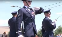 Flawless: Air Force Honor Guard Spin and Toss Heavy Rifles With Sharp Bayonets on Them