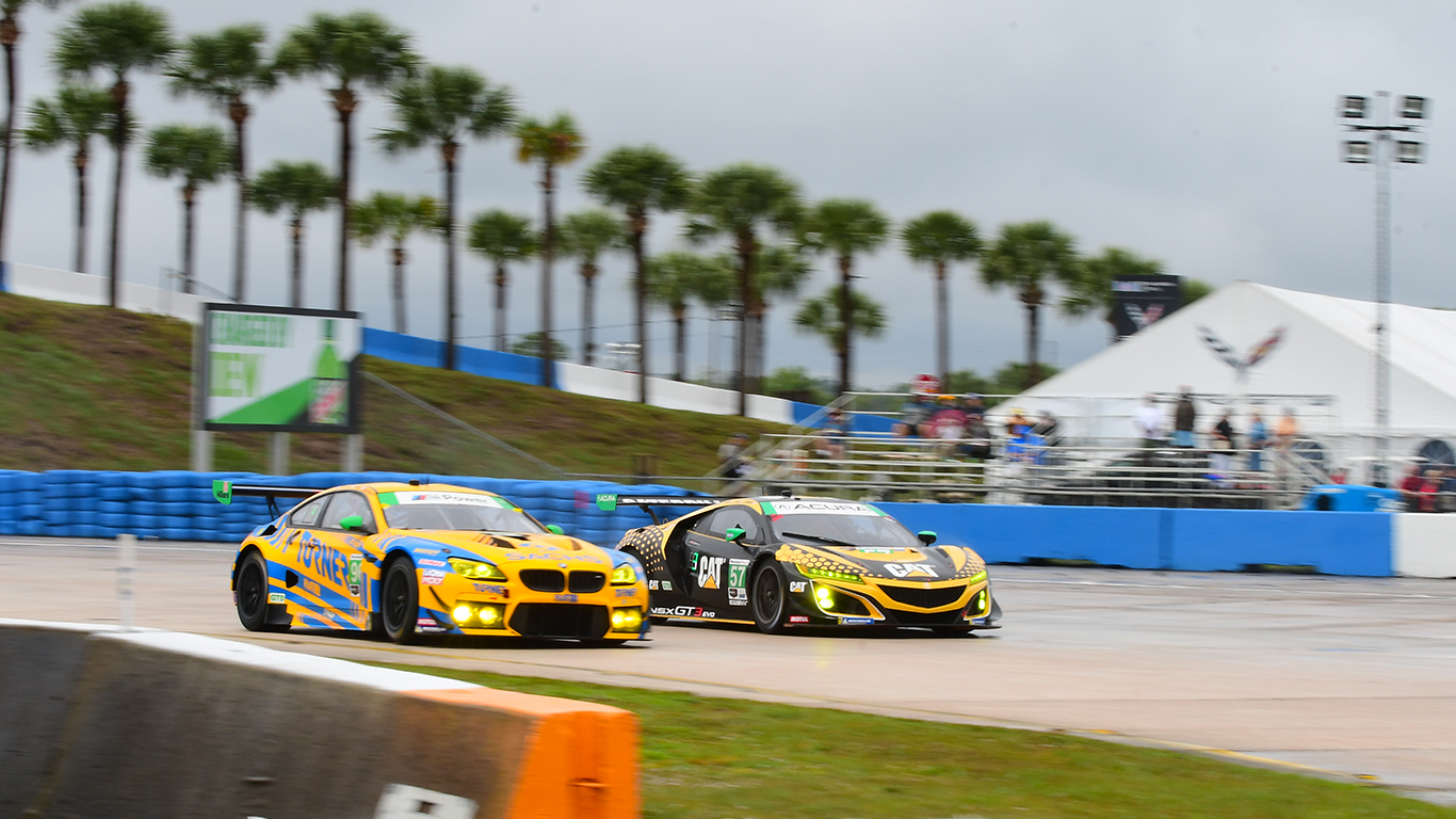 The GTD class offered plenty of close racing.