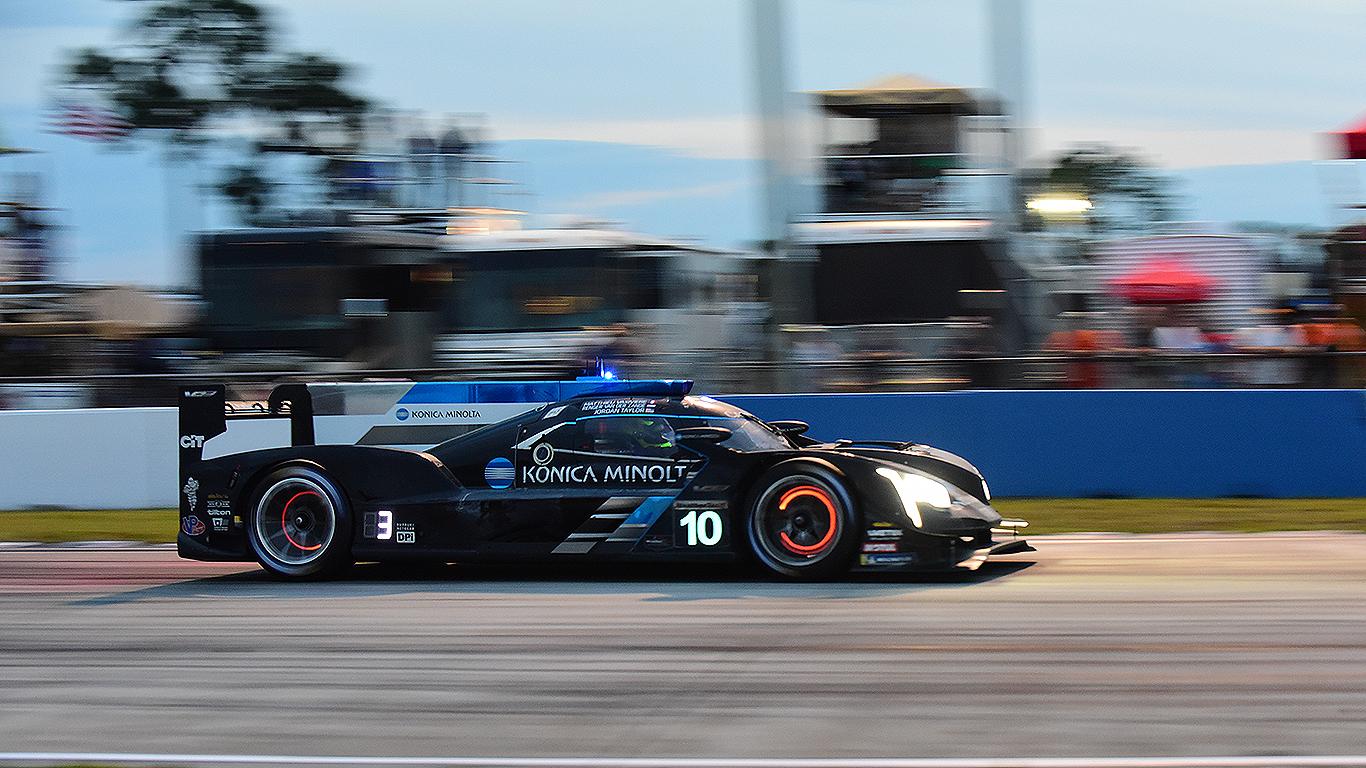 The #10 Wayne Taylor Racing Cadillac took second at Sebring.