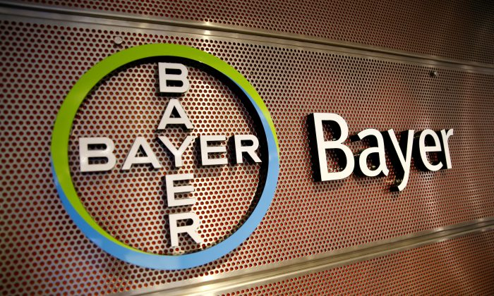 Logo of Bayer AG is pictured at the annual results news conference of the German drugmaker in Leverkusen, Germany on Feb. 27, 2019. (Wolfgang Rattay/Reuters)