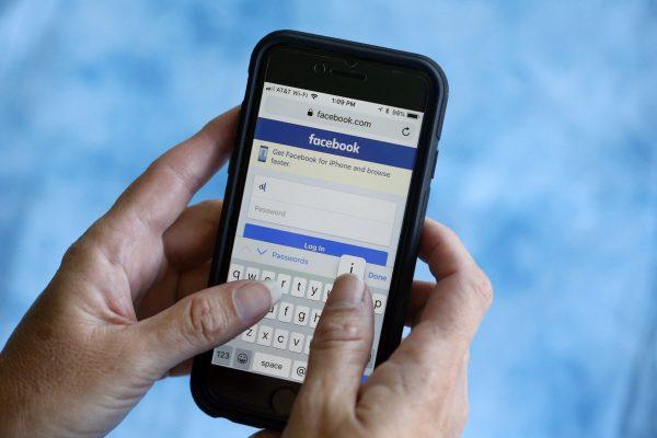 Facebook start page