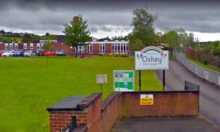 The entrance to Oxhey First School in June 2011. (Google Maps/Street View)