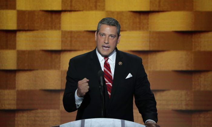 Rep. Tim Ryan (D-Ohio) speaks at the Democratic National Convention at the Wells Fargo Center, in Philadelphia, Pa. on July 28, 2016. (Alex Wong/Getty Images)