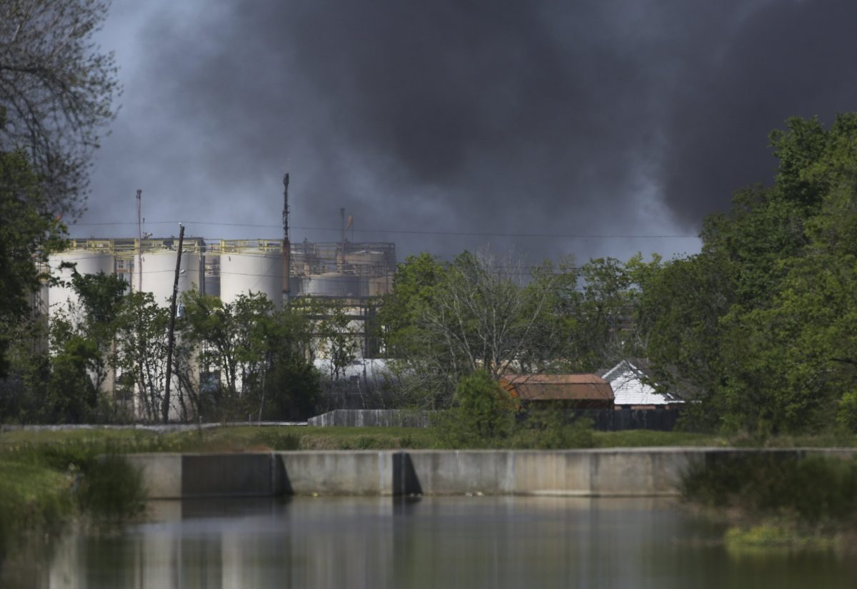 Smoke rises from fire at KMCO plant