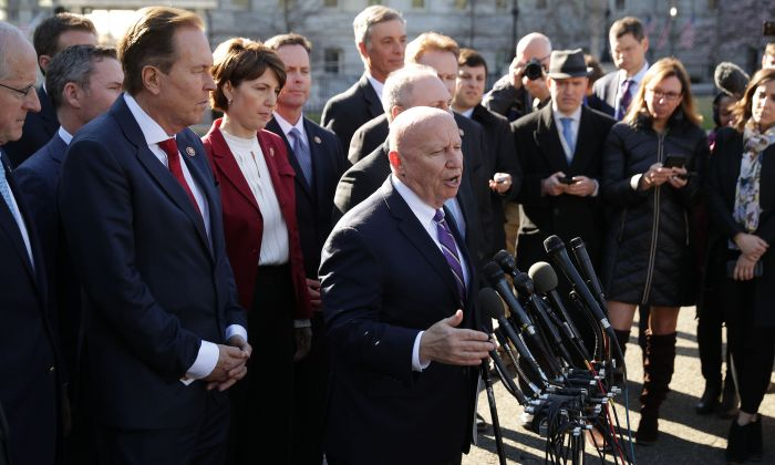 House Ways and Means Committee ranking member Rep. Kevin Brady (R-Texas) outside the White House West Wing March 26, 2019 in Washington. (Chip Somodevilla/Getty Images)