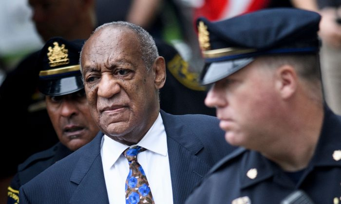 Actor Bill Cosby arrives at court in Norristown, Pennsylvania, on Sept. 24, 2018, to face sentencing for sexual assault. (Brendan Smialowski/AFP/Getty Images)