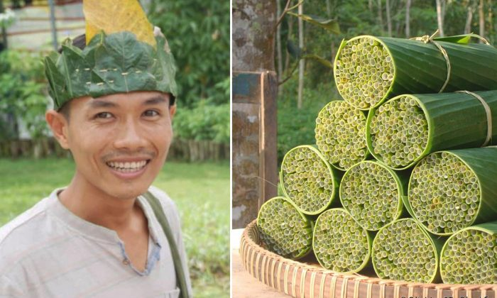 Vietnamese Man Makes Biodegradable Straws from Grass to Solve World's Plastic Problem