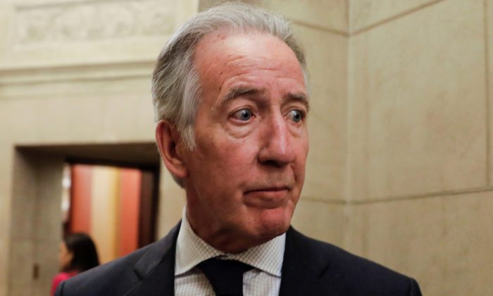 House Ways and Means Committee Chairman Richard Neal talks to reporters at the U.S. Capitol in Wash., on April 4, 2019. (Yuri Gripas via Reuters)