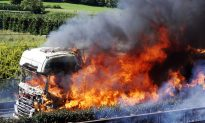 Driver Sacrifices His Life to Drive Burning Truck Away Before It Explodes, Saving Others