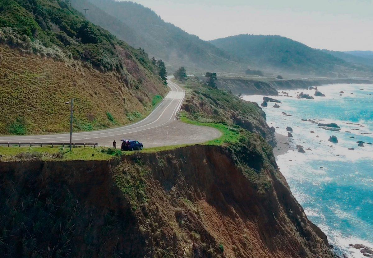 clifftop in Mendocino County