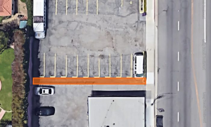 A small 4-foot by 96-foot strip of land is on sale for nearly $18,000 in Long Beach, California. (Google Maps)