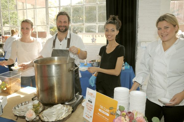 Chef Mike Price prepares Blue Crab Soup