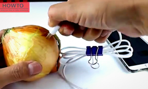 Charging Your Phone With an Onion: A Joke or An Ultimate Life Hack?