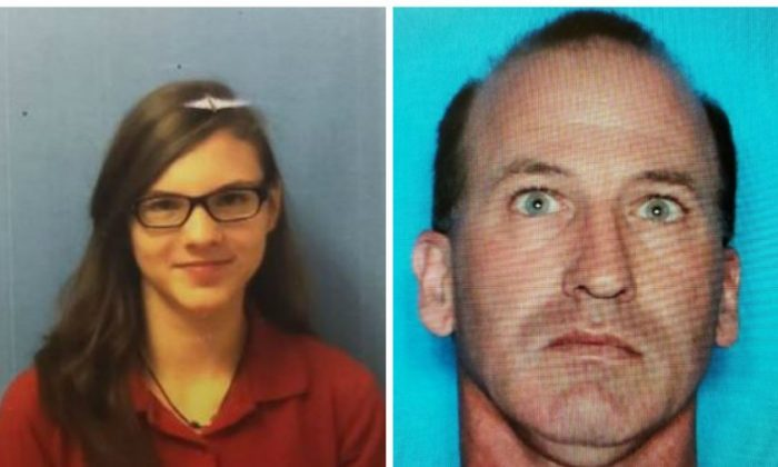 Domeanna Spell, 15, left, ran away with Corey Shane Disotell, 47, after getting off of her school bus on March 28, 2019. (Port Barre Police Department)