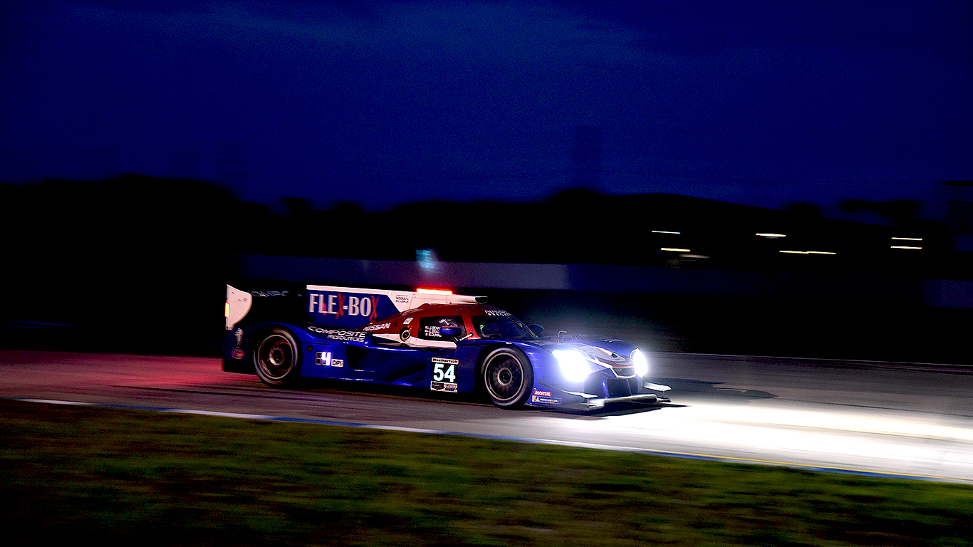 The #54 Core Autosports Nissan DPi finished fifth.