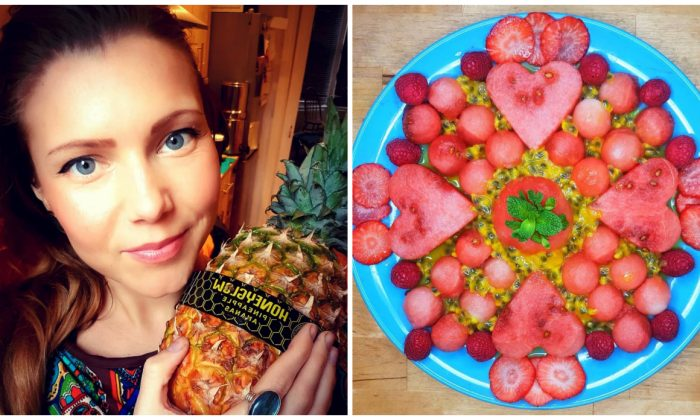 Polina Petruk, Feb. 18, 2019; a fruit platter prepared to celebrate Valentine's Day on Feb. 14, 2019. (Courtesy of Polina Petruk)